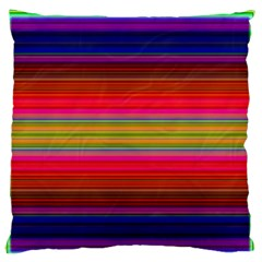 Fiestal Stripe Bright Colorful Neon Stripes Background Large Flano Cushion Case (two Sides) by Simbadda