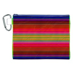 Fiestal Stripe Bright Colorful Neon Stripes Background Canvas Cosmetic Bag (xxl) by Simbadda