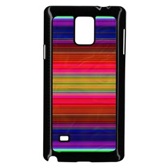 Fiestal Stripe Bright Colorful Neon Stripes Background Samsung Galaxy Note 4 Case (black) by Simbadda