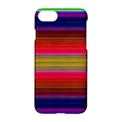 Fiestal Stripe Bright Colorful Neon Stripes Background Apple Iphone 7 Hardshell Case by Simbadda