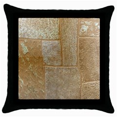 Texture Of Ceramic Tile Throw Pillow Case (black) by Simbadda