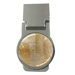 Texture Of Ceramic Tile Money Clips (round)  by Simbadda