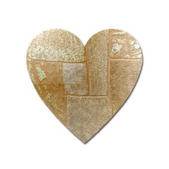 Texture Of Ceramic Tile Heart Magnet by Simbadda