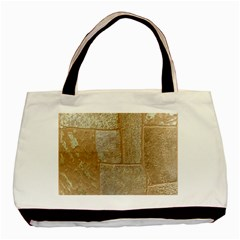 Texture Of Ceramic Tile Basic Tote Bag (two Sides) by Simbadda