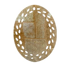 Texture Of Ceramic Tile Oval Filigree Ornament (two Sides) by Simbadda