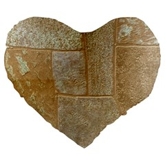 Texture Of Ceramic Tile Large 19  Premium Flano Heart Shape Cushions by Simbadda