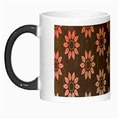 Grunge Brown Flower Background Pattern Morph Mugs by Simbadda