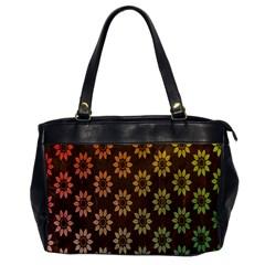 Grunge Brown Flower Background Pattern Office Handbags by Simbadda