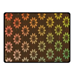 Grunge Brown Flower Background Pattern Fleece Blanket (small) by Simbadda