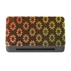Grunge Brown Flower Background Pattern Memory Card Reader With Cf by Simbadda