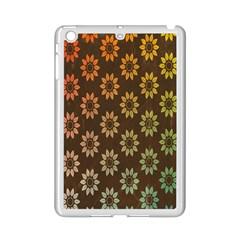 Grunge Brown Flower Background Pattern Ipad Mini 2 Enamel Coated Cases by Simbadda