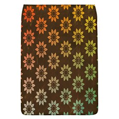 Grunge Brown Flower Background Pattern Flap Covers (l)  by Simbadda