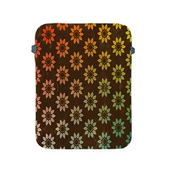 Grunge Brown Flower Background Pattern Apple Ipad 2/3/4 Protective Soft Cases by Simbadda