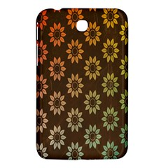Grunge Brown Flower Background Pattern Samsung Galaxy Tab 3 (7 ) P3200 Hardshell Case  by Simbadda