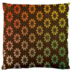 Grunge Brown Flower Background Pattern Standard Flano Cushion Case (Two Sides)