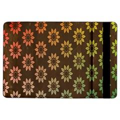 Grunge Brown Flower Background Pattern Ipad Air 2 Flip by Simbadda