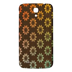 Grunge Brown Flower Background Pattern Samsung Galaxy Mega I9200 Hardshell Back Case by Simbadda