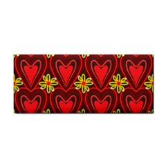 Digitally Created Seamless Love Heart Pattern Tile Cosmetic Storage Cases