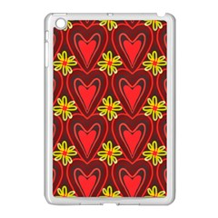 Digitally Created Seamless Love Heart Pattern Tile Apple Ipad Mini Case (white) by Simbadda