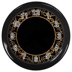 Abstract  Frame Pattern Card Wall Clocks (black) by Simbadda