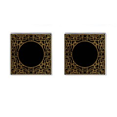 Abstract  Frame Pattern Card Cufflinks (square) by Simbadda