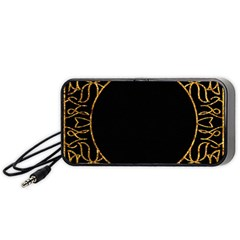 Abstract  Frame Pattern Card Portable Speaker (black) by Simbadda