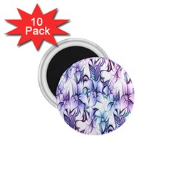 Floral Pattern Background 1 75  Magnets (10 Pack)