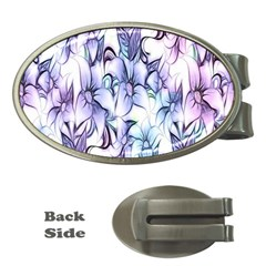Floral Pattern Background Money Clips (oval)  by Simbadda