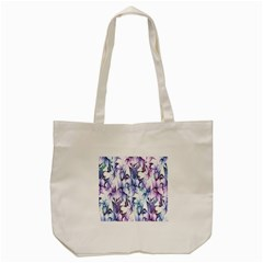 Floral Pattern Background Tote Bag (cream) by Simbadda