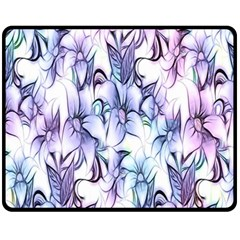 Floral Pattern Background Fleece Blanket (medium)  by Simbadda