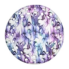 Floral Pattern Background Round Filigree Ornament (two Sides) by Simbadda