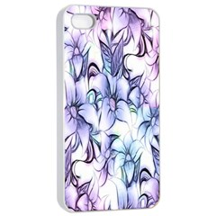 Floral Pattern Background Apple Iphone 4/4s Seamless Case (white) by Simbadda