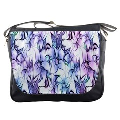 Floral Pattern Background Messenger Bags by Simbadda