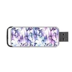 Floral Pattern Background Portable Usb Flash (two Sides) by Simbadda