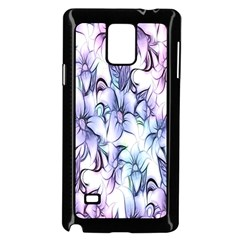Floral Pattern Background Samsung Galaxy Note 4 Case (black) by Simbadda