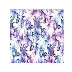 Floral Pattern Background Small Satin Scarf (square) by Simbadda