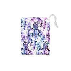 Floral Pattern Background Drawstring Pouches (xs)  by Simbadda