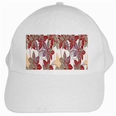 Floral Pattern Background White Cap by Simbadda