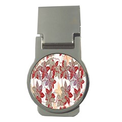 Floral Pattern Background Money Clips (round)  by Simbadda
