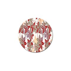 Floral Pattern Background Golf Ball Marker (10 Pack) by Simbadda