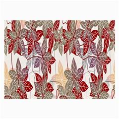 Floral Pattern Background Large Glasses Cloth (2 Side) by Simbadda