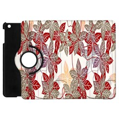 Floral Pattern Background Apple Ipad Mini Flip 360 Case by Simbadda