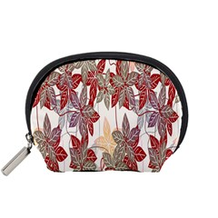 Floral Pattern Background Accessory Pouches (small)  by Simbadda