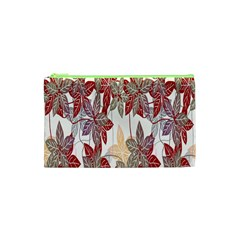Floral Pattern Background Cosmetic Bag (xs) by Simbadda