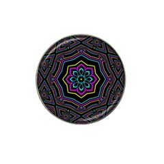 Cyan Yellow Magenta Kaleidoscope Hat Clip Ball Marker (10 Pack) by Simbadda