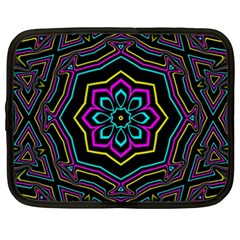 Cyan Yellow Magenta Kaleidoscope Netbook Case (xxl)  by Simbadda