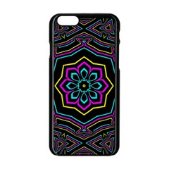 Cyan Yellow Magenta Kaleidoscope Apple Iphone 6/6s Black Enamel Case by Simbadda
