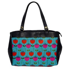 Tulips Floral Background Pattern Office Handbags by Simbadda