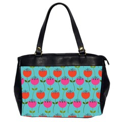 Tulips Floral Background Pattern Office Handbags (2 Sides)  by Simbadda