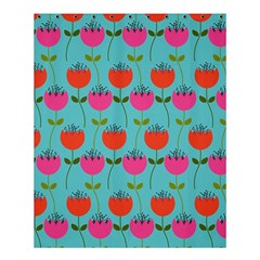 Tulips Floral Background Pattern Shower Curtain 60  X 72  (medium)  by Simbadda